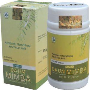 foto gambar produk herbal tazakka herbal sukoharjo manfaat tanaman daun mimba obat untuk kesehatan kulit alami kemasan kapsul botol