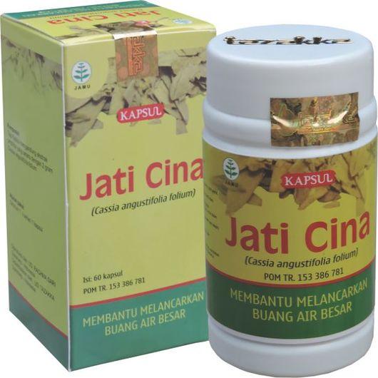 foto gambar produk herbal tazakka herbal sukoharjo manfaat tanaman jati cina obat susah buang air besar alami kemasan kapsul botol