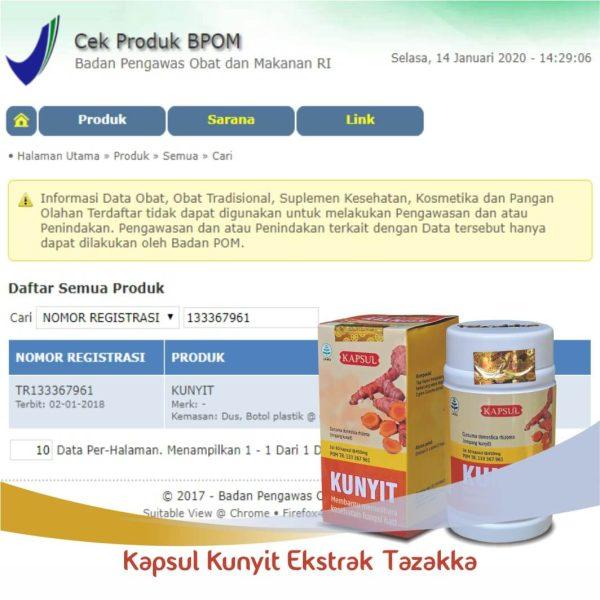 Kapsul Kunyit Original BPOM
