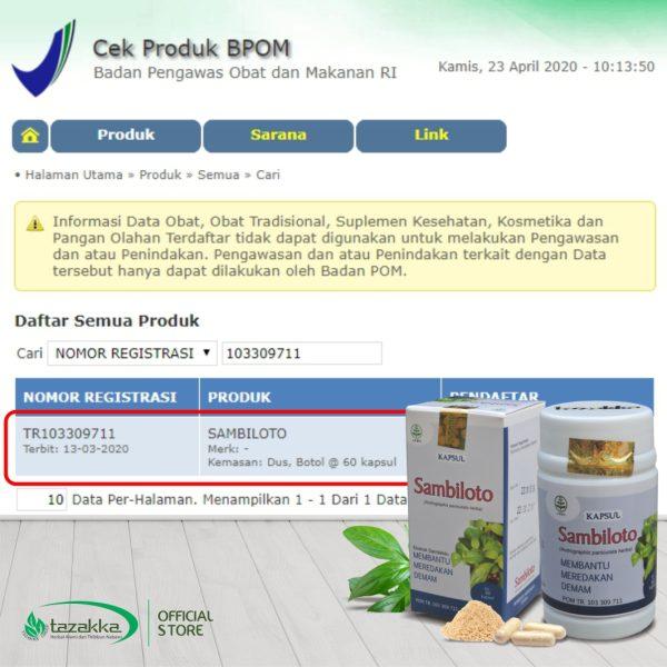 Kapsul Sambiloto Original Halal BPOM
