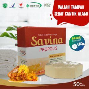 Sabun Cuci Muka Savina Propolis Kolagen Herbal Tazakka Official Store 50gr Anti Jerawat Facial Soap COD