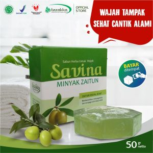 Sabun Cuci Muka Savina Zaitun Kolagen Herbal Tazakka Official Store 50gr Pelembab Wajah Soap Bar.