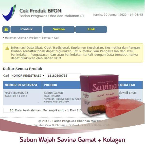 Sabun Gamat emas Untuk Wajah Halal BPOM.
