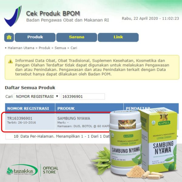 Sambung Nyawa Original Halal BPOM