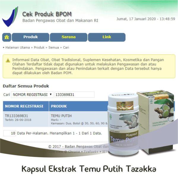 Temu Putih Halal BPOM
