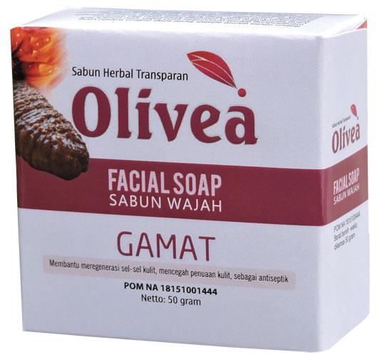 contoh foto gambar produk Sabun wajah herbal facial shop olivea gamat Tazakka untuk membantu mengatasi masalah penuaan dini agar kulit tampak cerah dan awet mudah