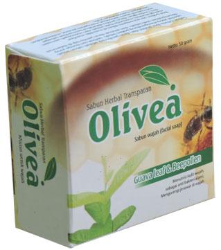 contoh foto gambar produk Sabun Wajah Olivea Herbal Daun Jambu Untuk Mengatasi Jerawat Dan Mencerahkan Kulit Wajah.