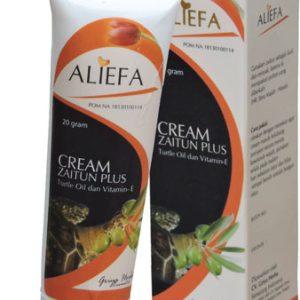 contoh foto gambar produk herbal tazakka group Cream Herbal Aliefa Zaitun Plus Minyak Bulus Dan Vitamin E Untuk Mengencangkan Kulit Dan Antioksidan