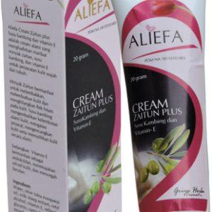 contoh foto gambar produk herbal tazakka group Cream Herbal Aliefa Zaitun Plus Susu Kambing Untuk Mengatasi Jerawat Dan Mencerahkan Kulit.