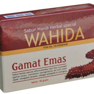 contoh foto gambar produk herbal tazakka group Sabun Herbal Wahida Gamat Emas Membantu Mencegah Penuaan Dini Dan Meregenerasi Sel Kulit Mati