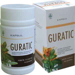 contoh foto gambar produk Obat Asam Urat Rematik Nyeri Sendi Herbal Guratic Alami Halal Berizin Edar Dan Berkualitas.