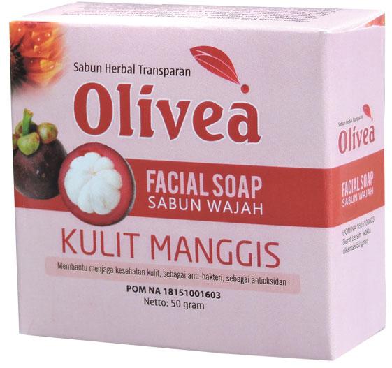 contoh foto gambar herbal tazakka Sabun Wajah Olivea Herbal Kulit Manggis Untuk Kesehatan Kulit Wajah Dan Anti Oksidan.