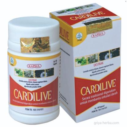 contoh foto gambar produk obat herbal untuk jantung dengan cardilive griya herbal tazakka group alami aman bagi tubuh