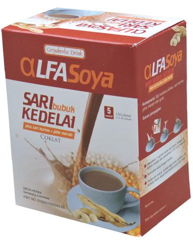 Contoh foto gambar produk herbal sukoharjo tazakka group susu bubuk alfasoya tazakka rasa cokelat