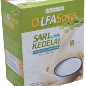 Contoh foto gambar produk herbal sukoharjo tazakka group susu bubuk rasa original alfasoya tazakka