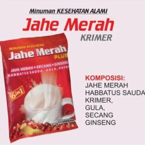 contoh foto gambar produk heerbal sukoharjo jawa tengah Minuman kesehatan instan siap seduh Herbal Jahe Merah plus bahan alami Tazakka Kemasan Sachet