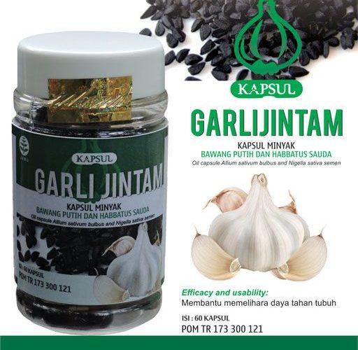 contoh foto gambar katalog produk griya herbal tazakka group sukoharjo jawa tengah obat herbal Garlijintam berkhasiat sebagai obat darah tinggi, hipertensi, asma, kolesterol dan gejala stroke secara alami