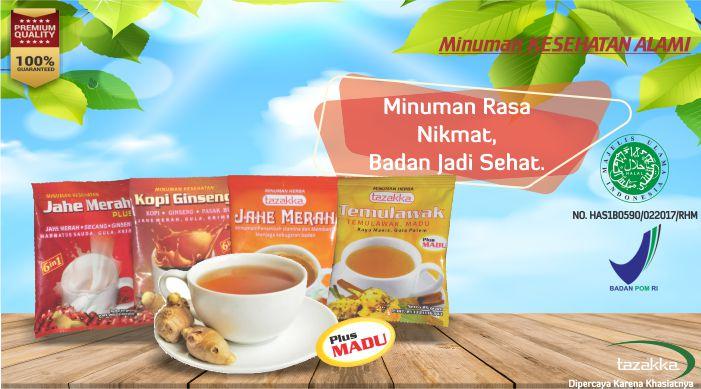 Aneka Minuman Kesehatan Wedang Jahe Plus Madu Herbal Instan Tazakka