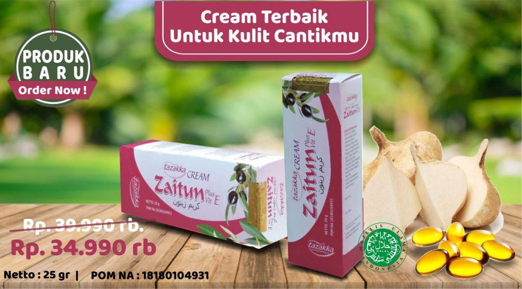 Cream Wajah Zaitun Sari Bengkoang Vitamin E Herbal Tazakka ORIGINAL