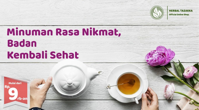 JUAL minuman hesehatan di Toko Online Herbal Tazakka Minuman Instan Teh Herbal Kesehatan
