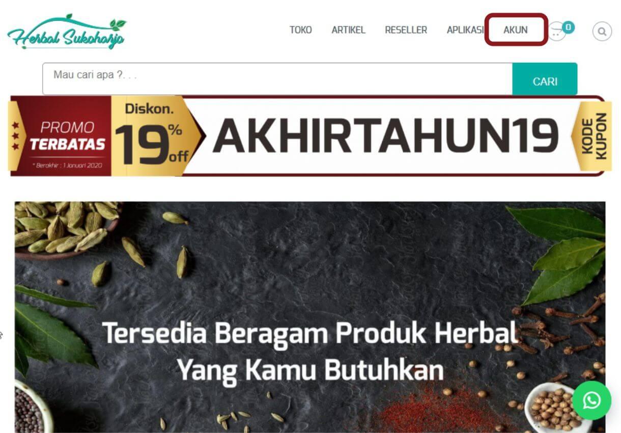 Cara order panduan langkah-langkah dengan gambar step by step belanja online di toko herbal terpercaya Tazakka Group 2.