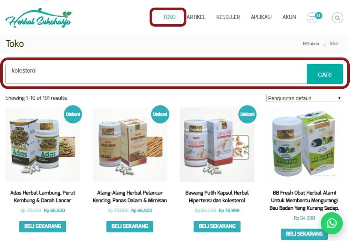 Cara order panduan langkah-langkah dengan gambar step by step belanja online di toko herbal terpercaya Tazakka Group 4A