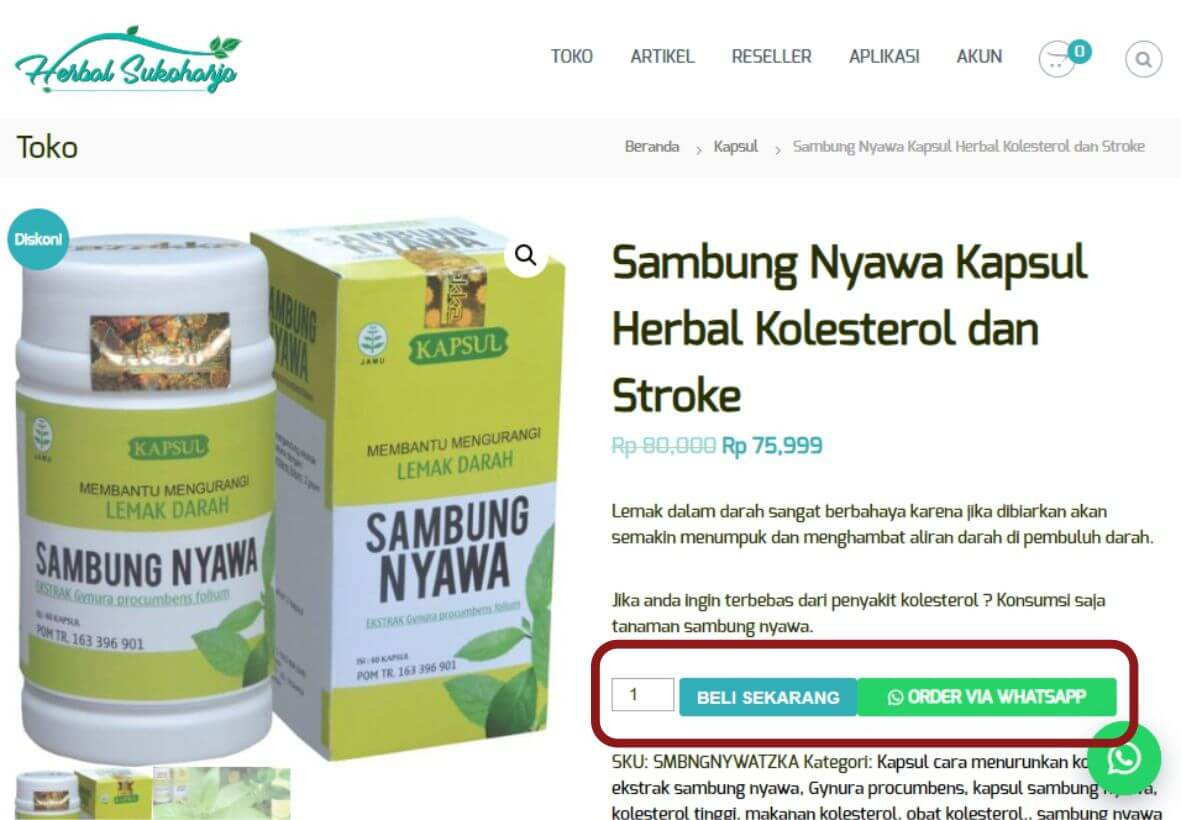 Cara order panduan langkah-langkah dengan gambar step by step belanja online di toko herbal terpercaya Tazakka Group 5