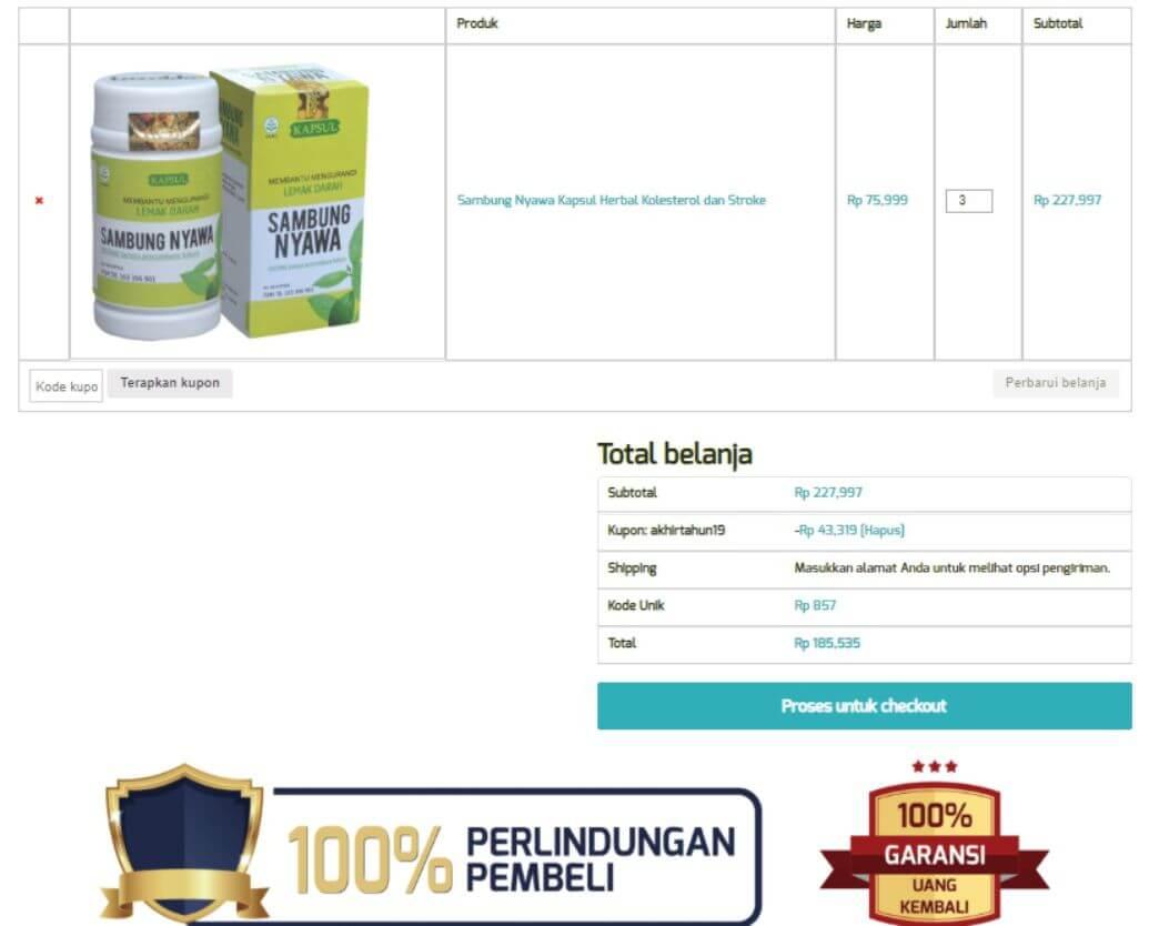 Cara order panduan langkah-langkah dengan gambar step by step belanja online di toko herbal terpercaya Tazakka Group 6