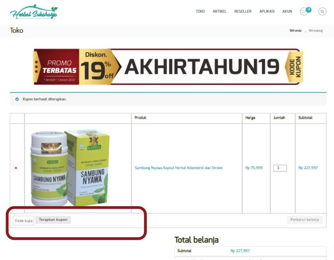 Cara order panduan langkah-langkah dengan gambar step by step belanja online di toko herbal terpercaya Tazakka Group 7B