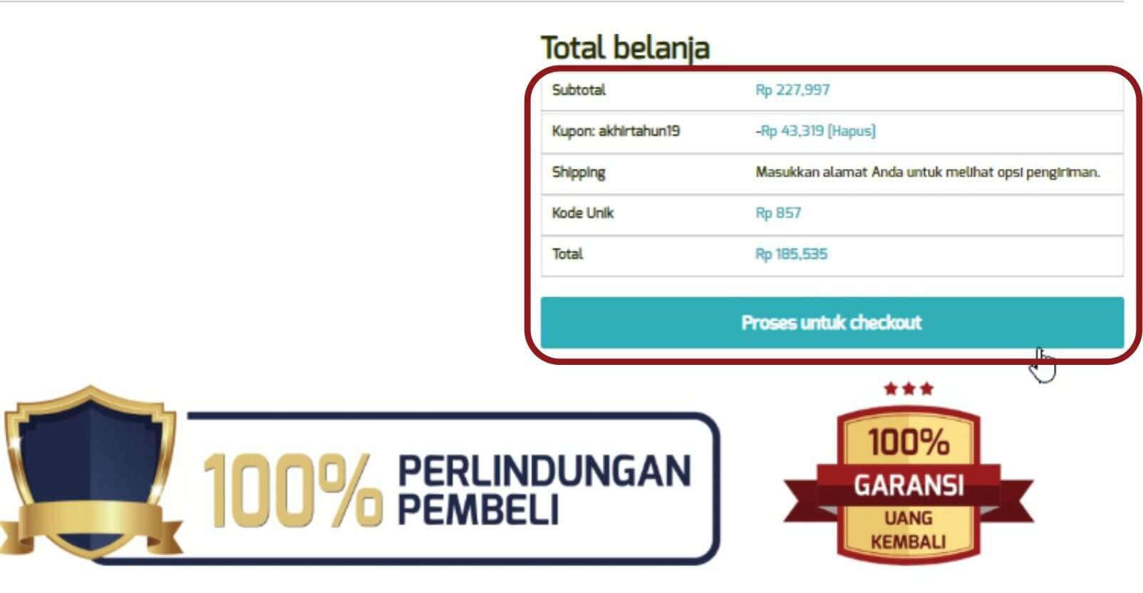 Cara order panduan langkah-langkah dengan gambar step by step belanja online di toko herbal terpercaya Tazakka Group 7C