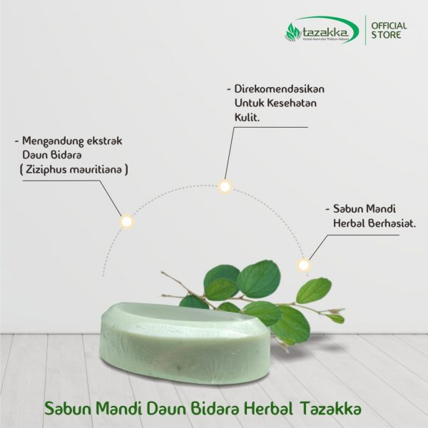 Sabun Daun Bidara Ruqyah Sabun Mandi Batang Herbal Tazakka 90 gr 2