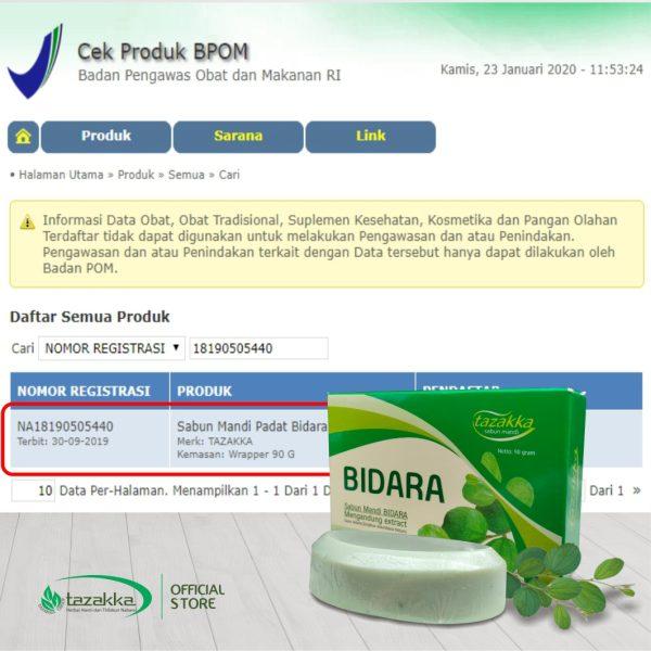 Sabun Daun Bidara Ruqyah Sabun Mandi Batang Herbal Tazakka 90 gr Original BPOM
