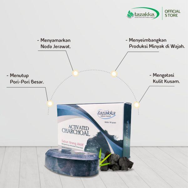 Manfaat Arang Aktif Untuk Kulit Sabun Arang Bambu Tazakka