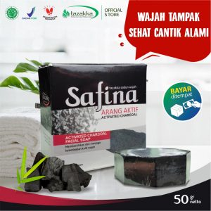 Sabun Cuci Muka Safina Arang Activated Charcoal Herbal Tazakka Official Store 50gr Kulit Berminyak