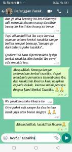 testimoni obat herbal diabetes Tazakka 3