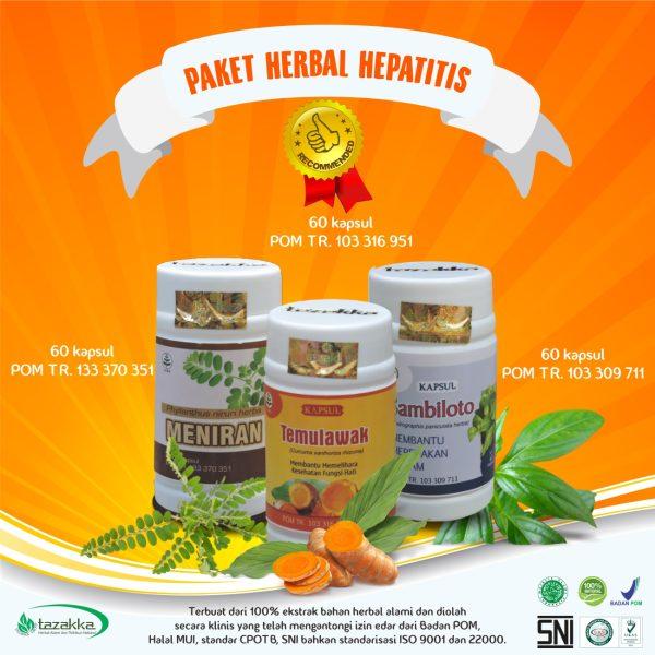 Obat Herbal Hepatitis fungsi liver penyakit kuning herbal tazakka