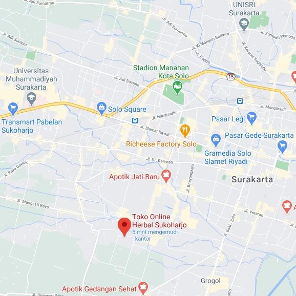 alamat toko herbal tazakka Sukoharjo Jawa Tengah
