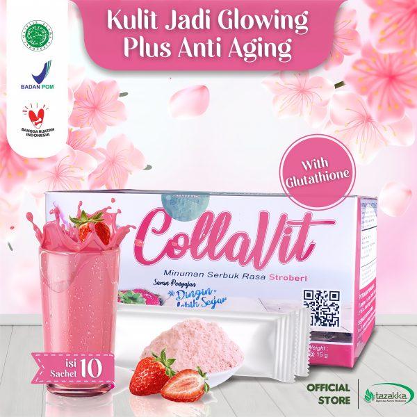 Collavit Minuman Collagen Pemutih Badan BPOM Glutathione Colagen Drink Whitening Suplemen Kecantikan